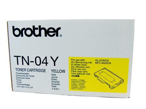 Brother Genuine TN-04Y Yellow Toner cartridge
