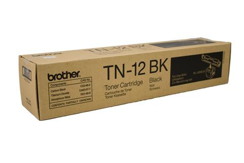 Brother Genuine TN-12BK Black Toner cartridge