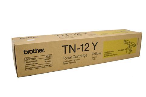 Brother Genuine TN-12Y Yellow Toner cartridge