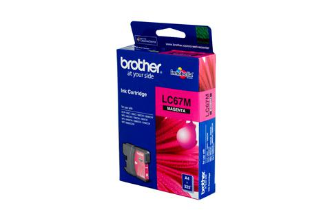 Brother Genuine LC67M Magenta Ink cartridge