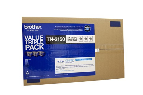 Brother Genuine TN-2150 Black Toner cartridge (3 Pack)