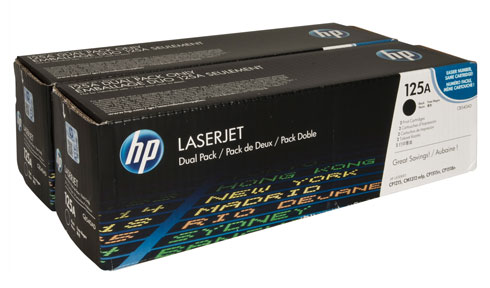 HP Genuine CB540AD Black (Twin-Pack) Toner cartridge