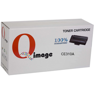Q-Image Compatible CE310A-QIMAGE Black Toner cartridge